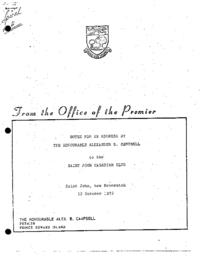 Saint John, N.B. Canadian Club